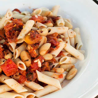 Roasted Tomato and Cannellini Bean Pasta.