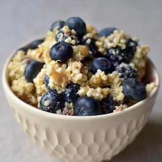 Breakfast Grain Salad with Blueberries, Hazelnuts & Lemon.