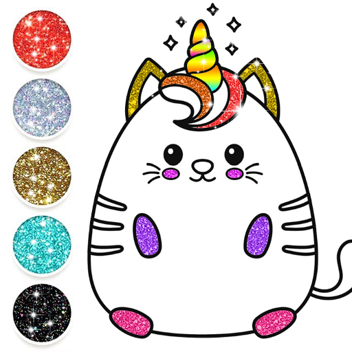 Kawaii Coloring Pages With Glitter Drawing Book App Su Google Play