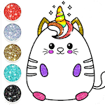 Kawaii Coloring Pages With Glitter - Drawing Book icon