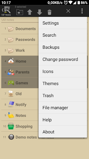 VIP Notes - keeper for passwords, documents, files screenshot 2