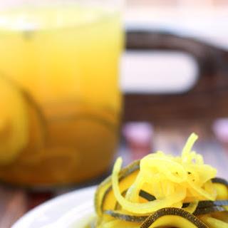 Fermented Zucchini Pickles.
