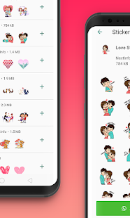 Romance Stickers WAStickerApp Screenshot