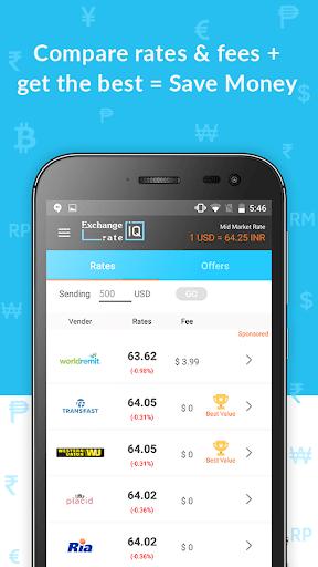 Exchange Rate IQ -Comparar transferencia de dinero screenshot 3