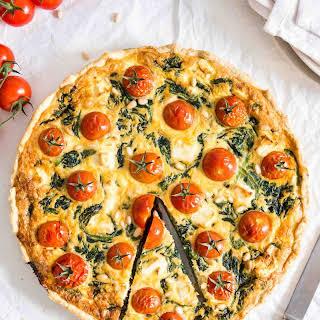 Spinach Tomato Quiche.