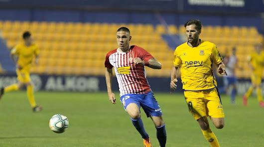 Uros Djurjevic en el partido contra la AD Alcorcón.