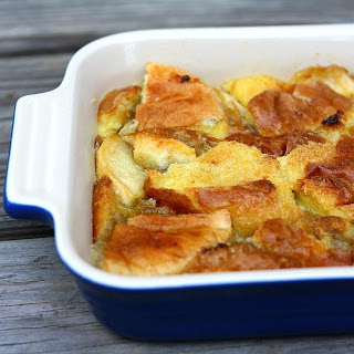 Apple-Rhubarb Bread Pudding