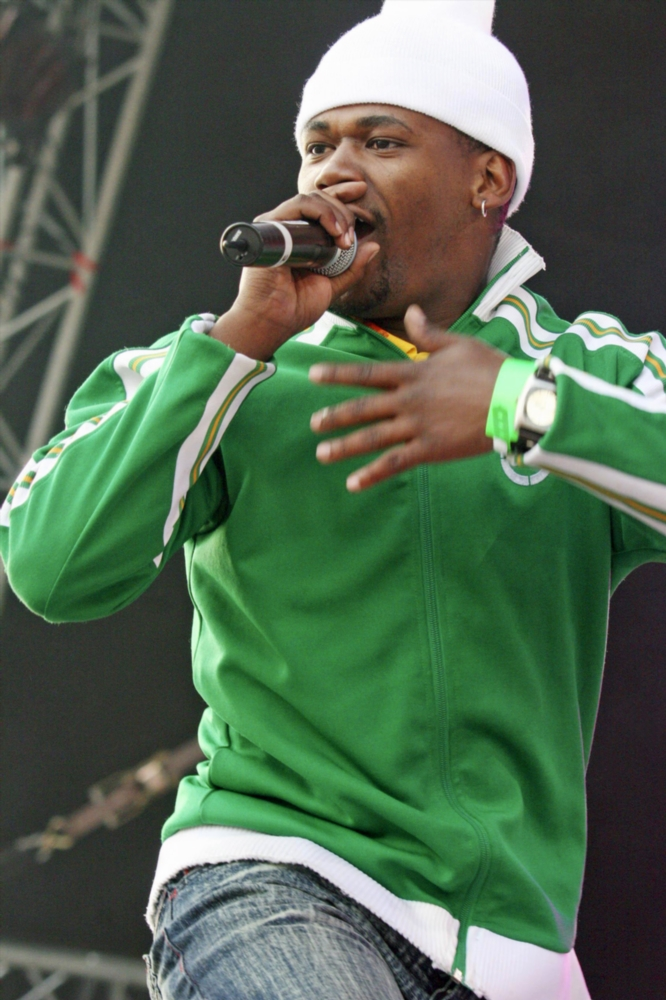 May 2006. Hip-Hop artist ProKid entertaining the crowd