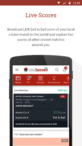 CricHeroes - The Ultimate Cricket Scoring App 3.9 screenshots 3