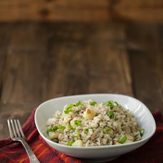 Gorgonzola Rice and Roasted Cauliflower