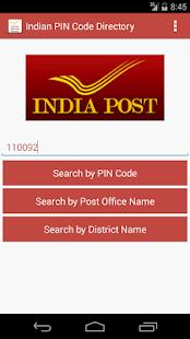 Indian PIN Code Directory screenshot