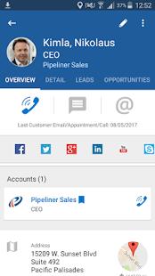 Pipeliner CRM Chronology - náhled