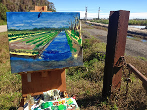 Photo: At Loxatchee. Painting in progress 1/16/14