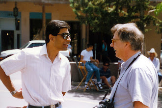 Photo: Suhail and Yves seem unaware of the charm of Santa Fe, 1996  KMH