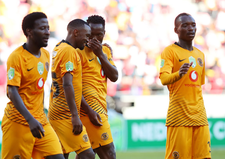 Philani Zulu of Kaizer Chiefs celebrates goal with teammates during the 2019 Nedbank Cup last 16 match between The Magic and Kaizer Chiefs at Nelson Mandela Bay Stadium, Port Elizabeth on 17 February 2019.