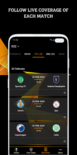 UEFA Europa League football: live scores & news 2.80.9 Screenshots 3