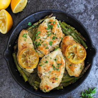 One Pan Lemon Chicken with Asparagus Recipe