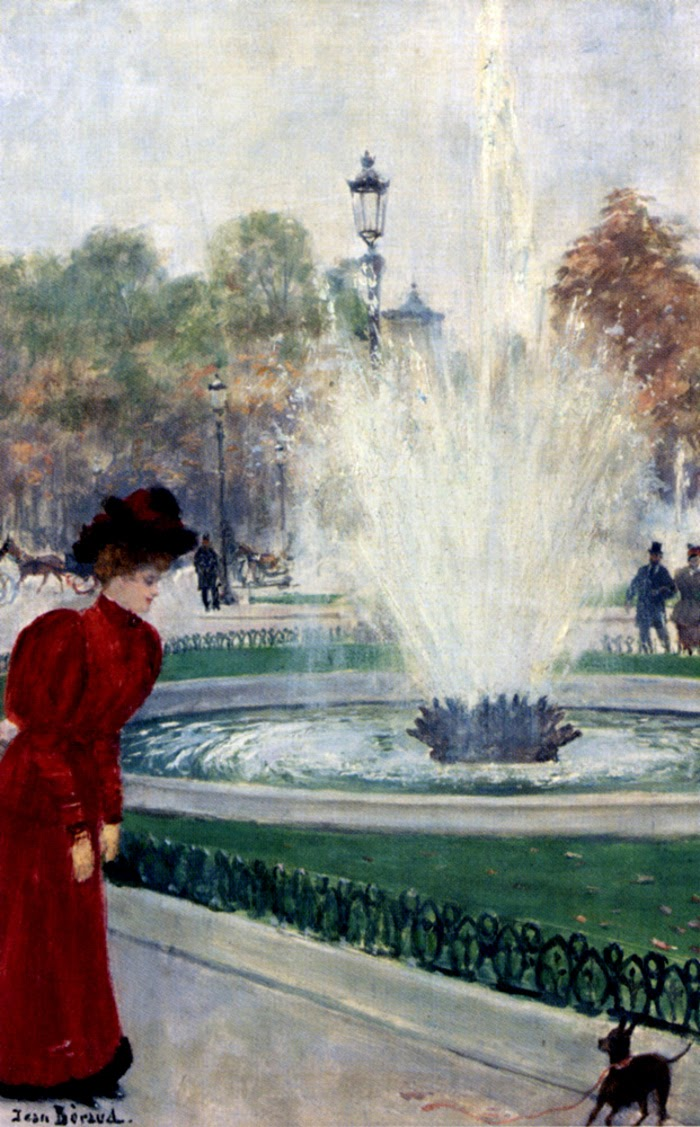 Parisienne Au Rond-Point Des Champs-Elysees by Jean-Georges Béraud.