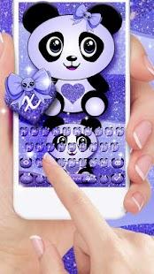Dreamy Galaxy Panda Keyboard Theme - náhled