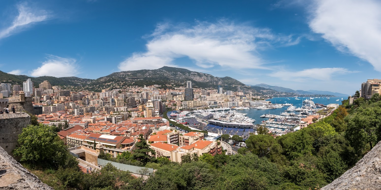 Panoramic view of Monaco, as seen from the Palace Square