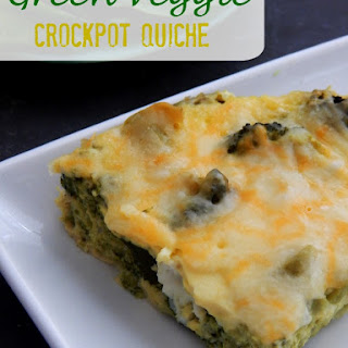 Crockpot Green Veggie Quiche