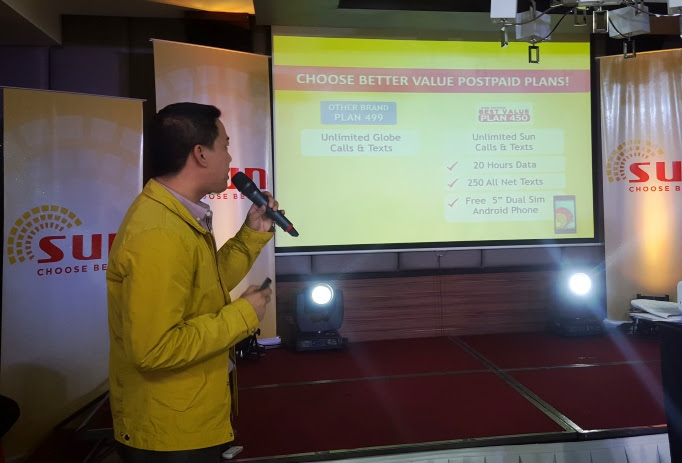 CHOOSE BETTER SUN BEST VALUE PLAN 450 COMPARED WITH GLOBE'S MYLIFESTYLE PLAN 499