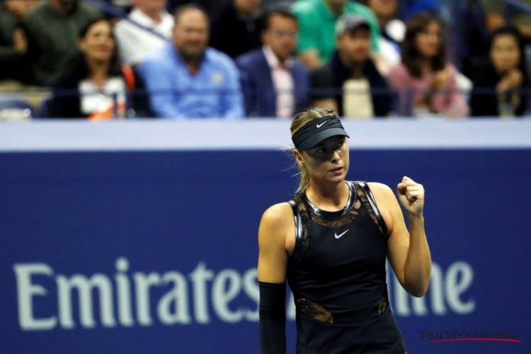 Sharapova straalt opnieuw en knalt richting achtste finale