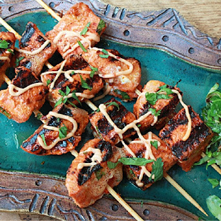 Red Curry Salmon Kabobs Recipe