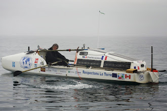 Photo: Charles Hedrich à bord du Rameur des Glaces