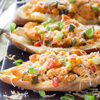 Tex-Mex Chicken Stuffed Sweet Potatoes