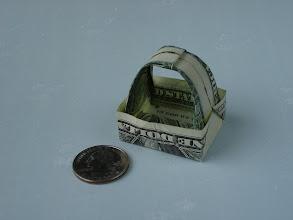 Photo: Model: Dollar Tip Basket;  Creator: Kalei Anne Lundberg;  Folder: William Sattler;  1 dollar;  Source: PDF file, unable to track down the source