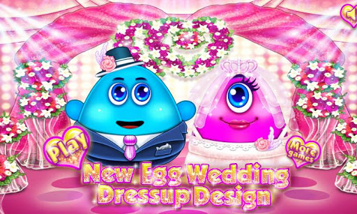 Mr Egg Wedding Dress up Design