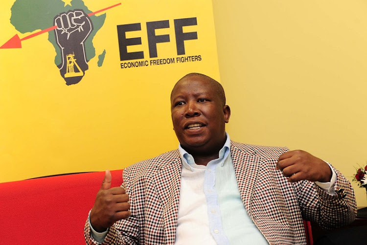 Economic Freedom Fighters leader Julius Malema.  Picture: PETER MOGAKI