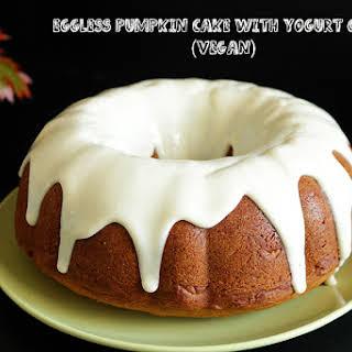 Eggless Pumpkin Bundt Cake with Yogurt Glaze (Vegan).