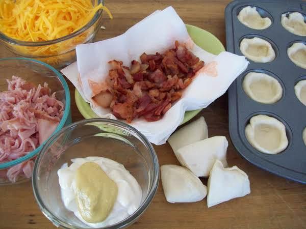 Mini Cheddar Ham Cups Recipe