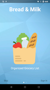 Bread & Milk - Grocery Shopping List - náhled