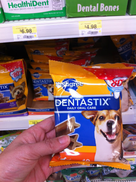 Photo: I am also grabbing a bag of Dentastix®, every puppy needs these to keep their teeth nice and clean!
