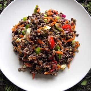 Black Lentil and Quinoa Salad with Vinaigrette.