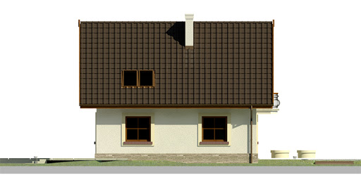 Dom przy Cyprysowej 27 - Elewacja lewa