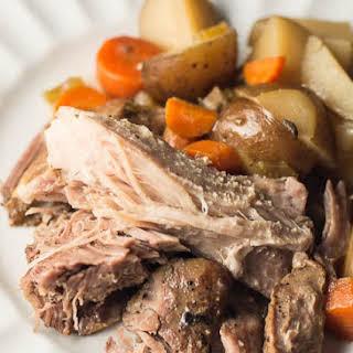 Slow Cooker Pork Roast with Vegetables.