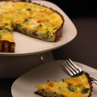 Vegetable Quiche featuring Cauliflower Crust