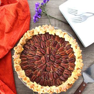Award Winning Bourbon Pecan Pie with Almond Crust