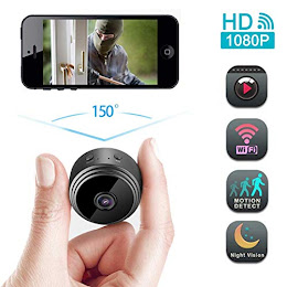 Camera video Wi-Fi 1080p HD, unghi 150, NightVision, Senzor de miscare