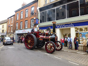 Photo: A late arrival to the vintage vehicle display