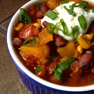 Slow Cooker Vegetarian Chili with Butternut Squash