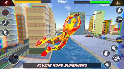Flying Robot Rope Hero - Vegas Crime City Gangster screenshots 4