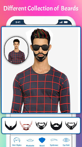 man photo editor & men hairstyle, suits, mustache screenshot 3