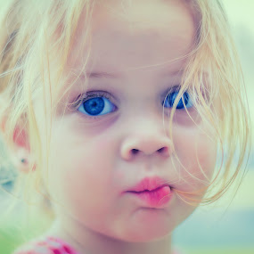 Fish Face by Shaun Poston - Babies & Children Toddlers ( pastel, vintage, diffused, fish face, cross process, rhyme poston, children, kids, toddler, close up, portrait, face, people )