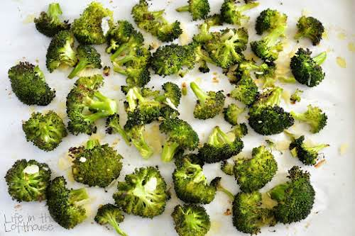 Roasted Parmesan Broccoli On a table full of unhealthy food, be that...