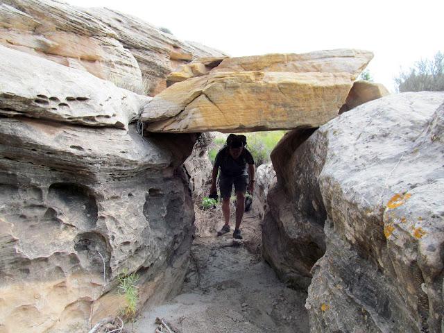 Under a boulder